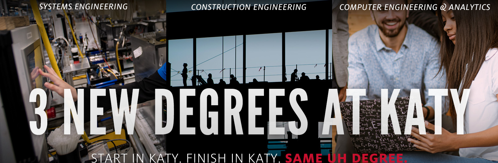 3 New Degrees at Katy