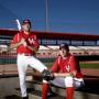 Tom Wertz (left) and Erik Pesek are pursuing engineering degrees while playing baseball. Photo by Thomas Shea.