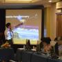 Assistant Civil and Environmental Engineering Professor Hyongki Lee teaching in Vietnam. Photo courtesy SERVIR GLOBAL