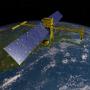 SWOT image artist rendering, courtesy of NASA