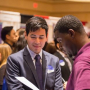 Making connections at Engineering Career Fair