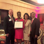 Delvina Branch, winner of a President's Excellence Award, with Renu Khator, UH president; Joseph W. Tedesco, Elizabeth D. Rockwell dean of the UH Cullen College of Engineering; and Suresh Khator, associate dean of graduate programs and computing facilities at the Cullen College.
