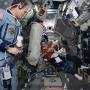 Bonnie Dunbar, a UH Cullen College of Engineering alumna, aboard the space shuttle Atlantis.