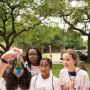 Science experiments dazzled and inspired participants at the 2018 Girls Engineering the Future! sponsored by Chevron.