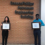Two Cullen College of Engineering students studying Petroleum Engineering took home first place awards at the 61st annual SPWLA International contest. Makpal Sariyeva [left] won first place in the Oral Presentation Undergrad Category. Naveen Krishnaraj, a doctoral candidate, won first place in the Oral Presentation PhD Category.