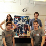 Some members of the Cullen College's 2011 Chem-E Car team