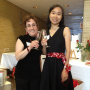 Pia Greenberg '86 and May Shek '02