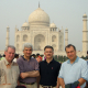 A delegation from the University of Houston poses in front of the Taj Mahal in Agra, India during a recent trip aimed at establishing academic and research partnerships with several engineering colleges throughout the country. Cullen College of Engineering Associate Dean of Graduate Studies Larry Witte led the group, which included Haluk Ogmen, chair of electrical and computer engineering; Haider Malki, associate dean of research, UH College of Technology; and Hamid Parsaei, chair of industrial engineering.