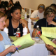 Engineering students (from left) Maebeth Stiglet, Tomica Henson, Brandy Jones and Vinita Kapoor attempt a problem-solving exercise at the WELCOME Retreat last month. Photo provided by WELCOME.
