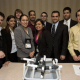 Rehan Momin (back row, second from left), senior electrical engineering major, is pictured with his design team at the Society of Hispanic Professional Engineers national conference. The team captured first place in the organization's Extreme Engineering Challege, a competition challenging students to design a water supply system for an impoverished country. Photo courtesy of SHPE.