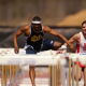 Selim Nurudeen, son of UH engineering lecturer Shola Nurudeen, will compete in the Olympic Games in the 110-meter hurdle event. He competed for the University of Notre Dame as an undergraduate student. Photo courtesy of Notre Dame Sports Information.