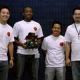 IEEE robotics competition first place winners: Thomas Packer, Ibrahim Komara , Paul Dinh and Paul Moreno. Photo by Thomas Shea.