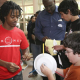 UH PROMES students assist Texas middle and high school students in testing their wind turbine designs.