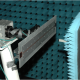 Dr. David Jackson's novel leaky-wave antenna design being tested in the anechoic chamber at Sandia National Laboratories.