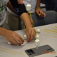 High school students who attended Science Extravaganza participated in hands-on activities that provided a small sampling of the STEM fields. Here, students were asked to assemble basic but sturdy structures using uncooked pasta and marshmallows.