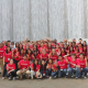 STEP Forward campers pose by the Houston Waterwall.