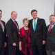 From left: Russell Dunlavy, Dean Joseph W. Tedesco, Nancy Beyer, Honorable Joe Zimmerman, Trent Perez