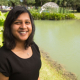 Aparna Balasubramani in a familiar environment, near the water