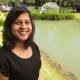 Aparna Balasubramani in a familiar environment, near the water