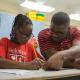 Cullen College student and iEducate tutor Jameel Jordan at work at Blackshear Elementary