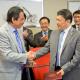 Dr. Jaime Ortiz (left) and Sun Yuqing, president of Dalian Maritime University