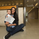 """I almost feel I have given birth to two babies,"" says grad student Sana Krichen. Her son Yousseff Khadimallah, now 10 months old, holds his mother's just-published article about the role electromagnetism plays in some animal species' navigation skills. The article was first submitted to the journal Physical Review E at the time Krichen learned she was pregnant and – after much back-and-forth with reviewers – was released October 4."