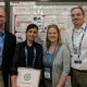 Award winner at the conference: Sara Pouladi (2nd from left) with (from left) Thomas Vandervelde of Tufts University, Emily Warren of National Renewable Energy Laboratory and Kyle Montgomery of the Air Force Research Laboratory