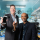 Richard Willson (left) and Chandra Mohan are developing an at-home test kit for lupus nephritis flare ups