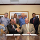 Celebrating a MoU between the University of Houston and the Indian Institute of Petroleum and Energy.