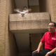 UH Professor Gino Lim with a student and a flying drone, a technology with lot of potential to provide cost-effective healthcare to rural Americans.