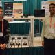 Kaushik Mandiga and Denny Luong, electrical and computer engineering students at the Cullen College of Engineering, display robotic projects at the 2018 ECEDHA Conference.