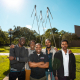 Jerrod Henderson, instructional associate professor at the UH Cullen College of Engineering, with some of his students.