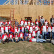 Honors Engineering students take part in a Habitat for Humanity build.