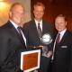 (L-R) Cullen College Dean Joseph W. Tedesco, FMC's Randy Wester and UH Subsea Engineering Program Director Matthew Franchek