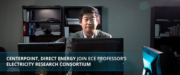 CenterPoint, Direct Energy Join ECE Professor's Electricity Research Consortium