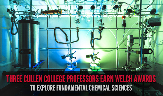 Three Cullen College Professors Earn Welch Awards to Explore Fundamental Chemical Sciences
