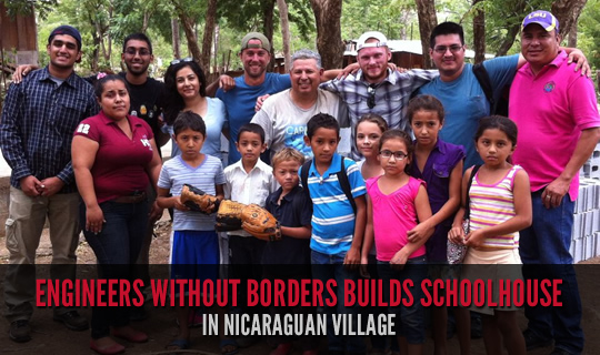 Engineers Without Borders Builds Schoolhouse in Nicaraguan Village