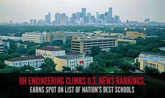 UH Engineering Climbs U.S. News Rankings, Earns Spot on List of Nation's Best Schools