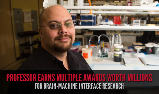 Professor Earns Multiple Awards Worth Millions for Brain-Machine Interface Research