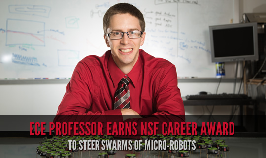 ECE Professor Earns NSF CAREER Award to Steer Swarms of Micro-Robots