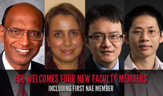 ECE Welcomes Four New Faculty Members Including First NAE Member
