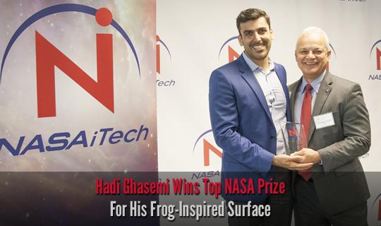 Hadi Ghasemi Wins Top NASA Prize For His Frog-Inspired Surface