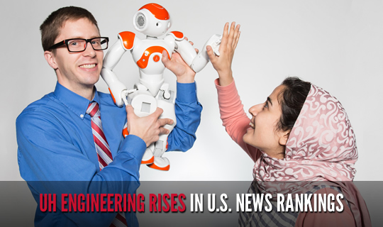 UH Engineering Rises in U.S. News Rankings
