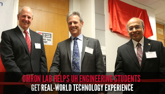 Omron Lab Helps UH Engineering Students Get Real-World Technology Experience.