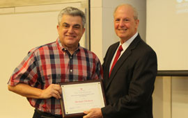 Cullen College Celebrates Excellence with Outstanding Service Awards at Recent Faculty and Staff Meeting.