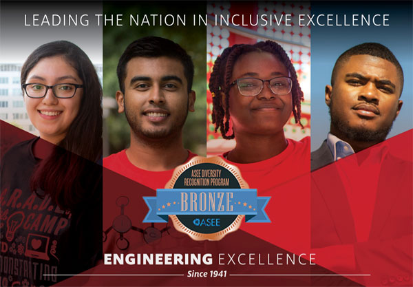 UH Cullen College of Engineering Recognized for Its Commitment In Diversity by ASEE.