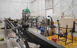 The Petroleum Engineering labs at the University of Houston's Technology Bridge