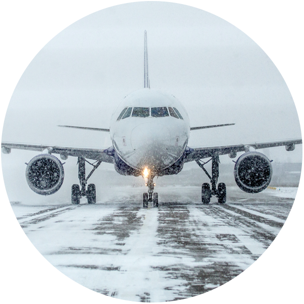 Plane on ice